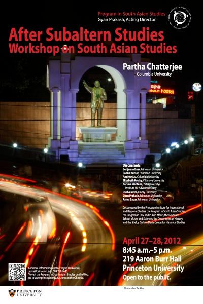 Princeton South Asia 2012 poster